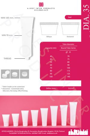 Squeeze plastic packaging tube with flip top cap for facial foam, body lotion, skincare and phamaceutical