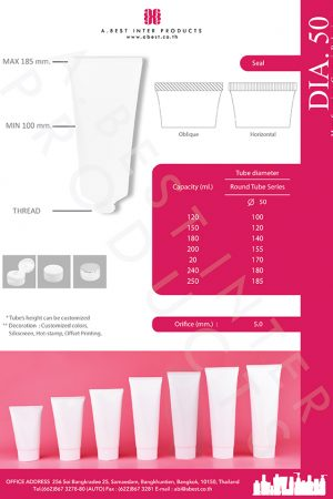 5 layer Squeeze plastic tube with screw cap, flip top cap or aluminum cap for body lotion, skin care, conditioner and hair cream.