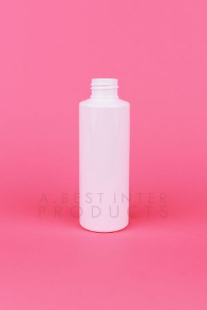 White Round Cosmetic Bottle 120 ml