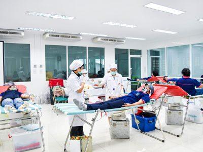 กิจกรรมบริจาคเลือดครั้งที่ 2 ของโรงงานผลิตบรรจุภัณฑ์ครื่องสำอางร่วมกับสภากาชาดไทย